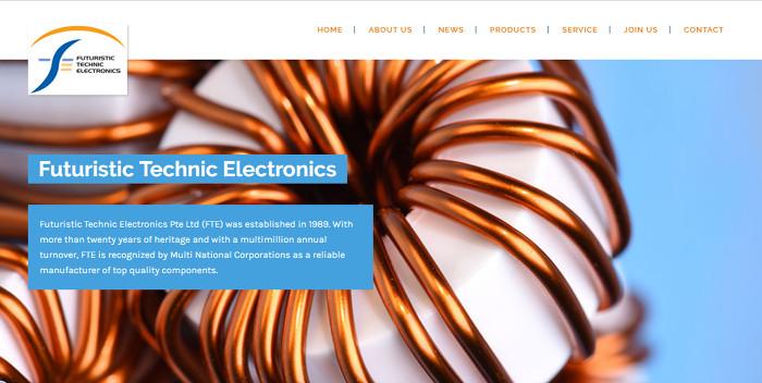 Alpha Web Portfolio - Futuristic Technic Electronics